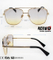 Fashion Design Metal Sunglasses with Double Bridges and Ocean Lens Km18036