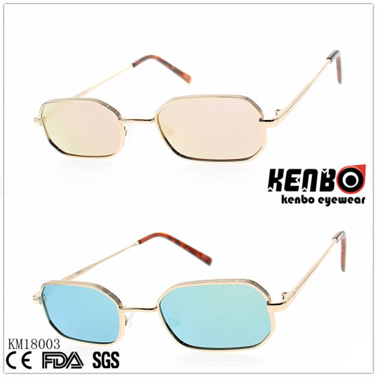 Fashion Metal Sunglasses with Radius Square Frame Km18003