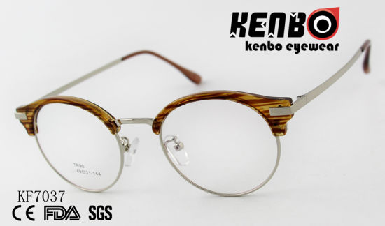 High Quality PC Optical Glasses with Mixed Frame Ce FDA Kf7037