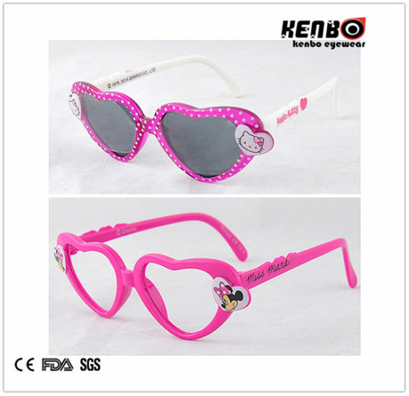 Heart Shape Children′s Sunglasses. Kc515