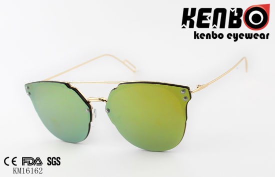 Zero Based Fashionable Metal Sunglasses Km16162 Lens Over Frame Design