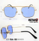 Fashion Metal Sunglasses with Muti-Colored Lens Km18056