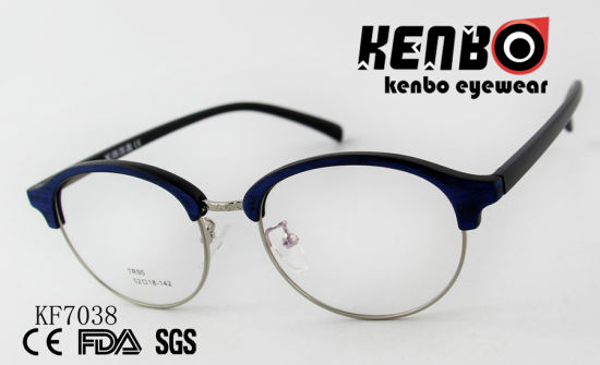 High Quality PC Optical Glasses with Mixed Frame Ce FDA Kf7038