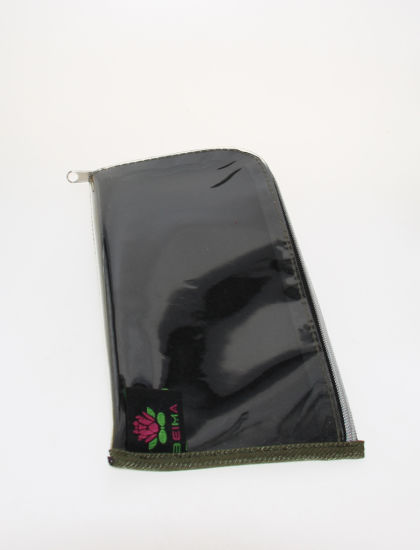 Glasses Pouch with Transparent Side and Flower Pattern