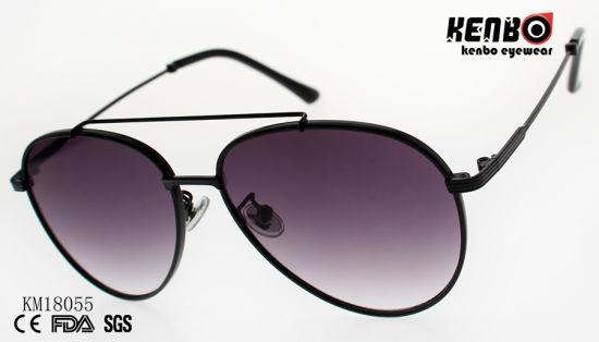 Fashion Metal Sunglasses with Double Bridges Km18055